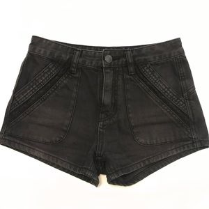Free People Charcoal Jean Shorts